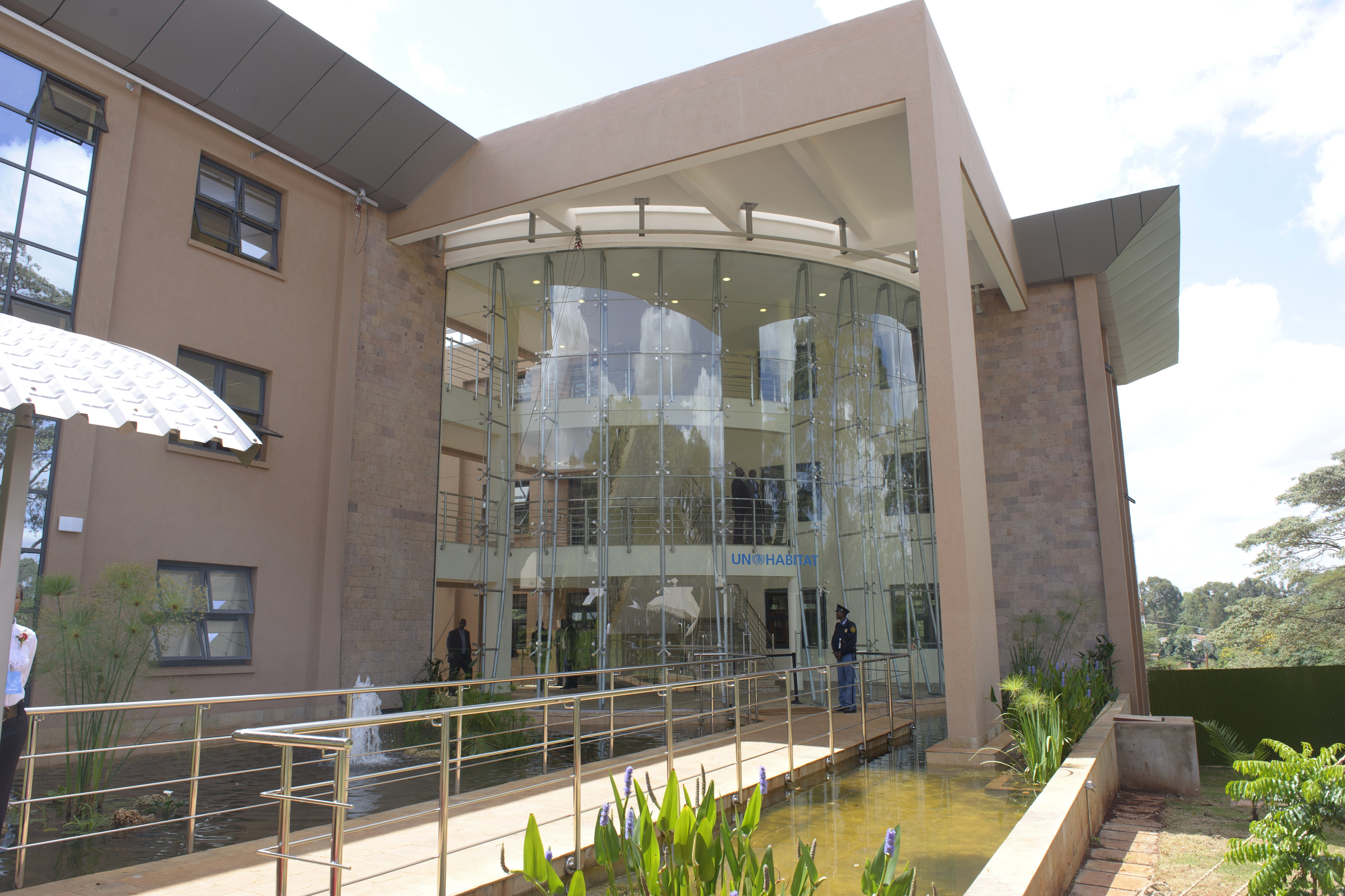 A view of the UN Office in Nairobi's new energy-efficient facilities, Kenya.