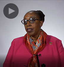 Screenshot from video message shows Resident Coordinator, Mbaranga Gasarabwe