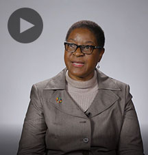 Screenshot from video message shows Resident Coordinator, Rachel Odede