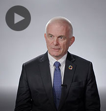 Screenshot from video message shows Resident Coordinator, Knut Ostby