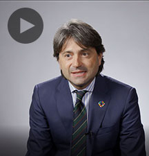 Screenshot from video message shows Resident Coordinator, Gianluca Rampolla