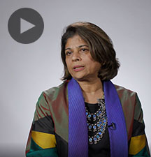 Screenshot from video message shows Resident Coordinator, Pratibha Mehta