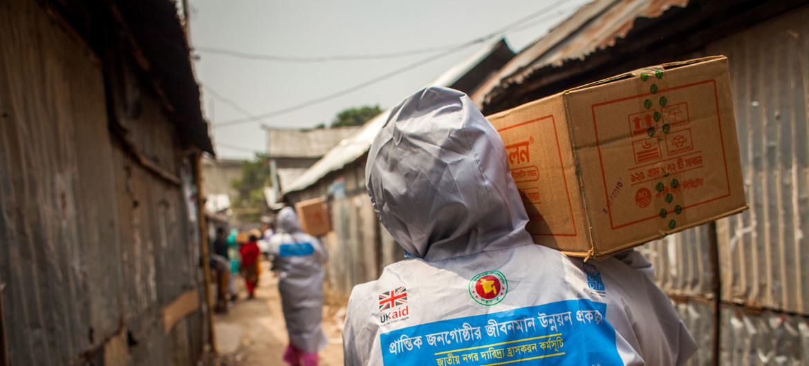 The UN Development Programme with the support of UK Aid , is rolling out emergency support for 50,000 poor urban families in Bangladesh in response to the COVID-19 outbreak.