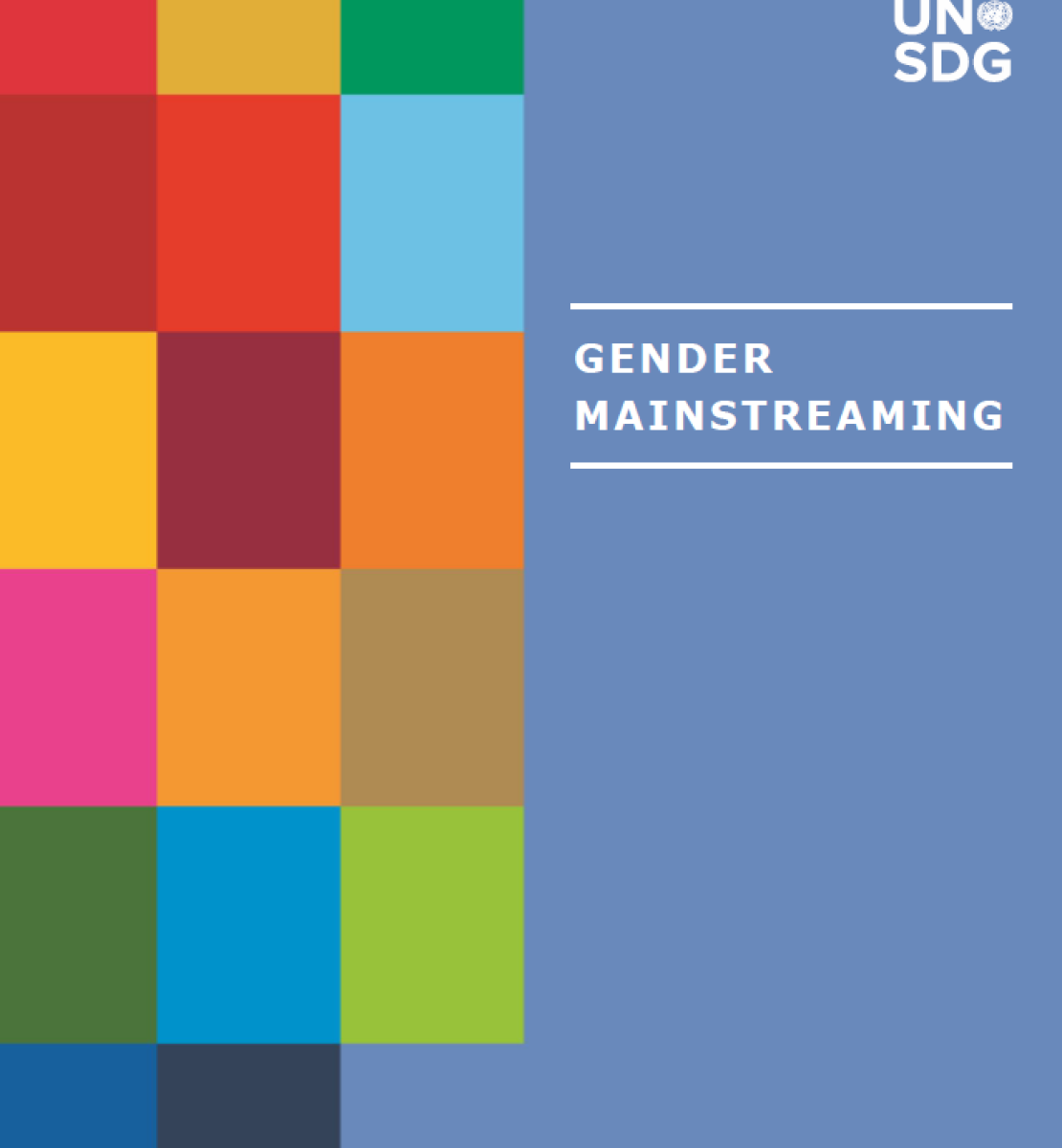 Cover to the Gender Mainstreaming Resource