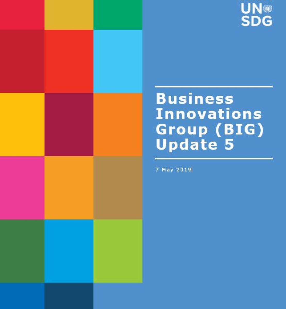 Cover shows BIG Update 5 title against a solid background by a grid of colourful rectangle grid