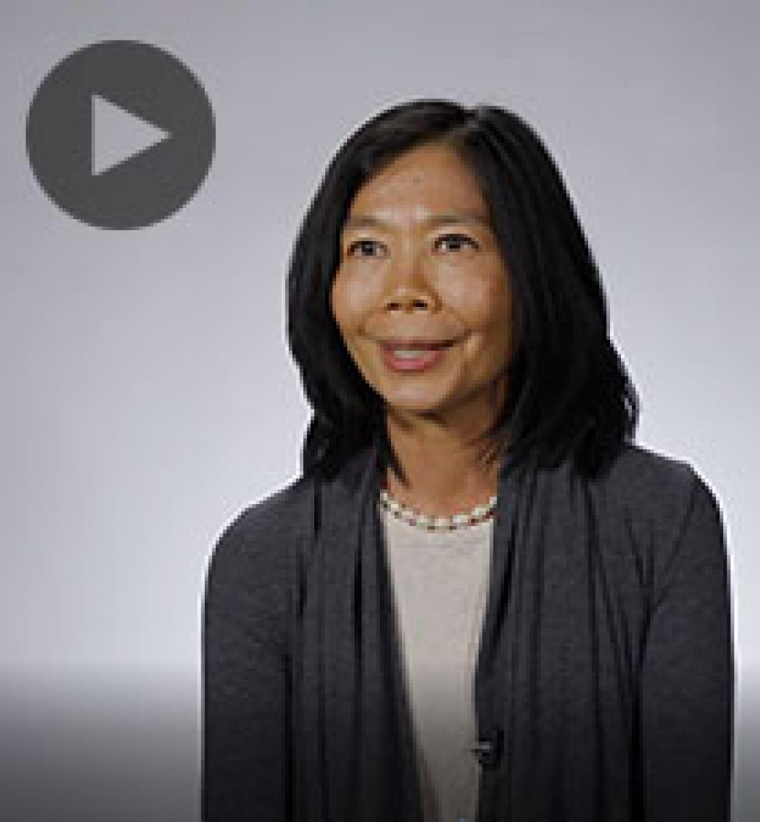 Screenshot from video message shows Resident Coordinator, Pauline Tamesis