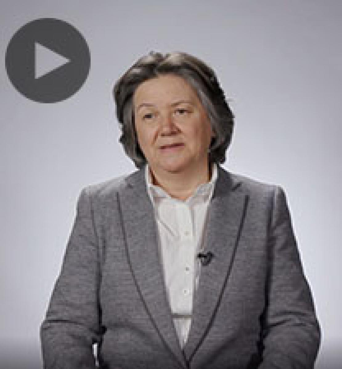 Screenshot from video message shows Resident Coordinator, Jessica Faieta