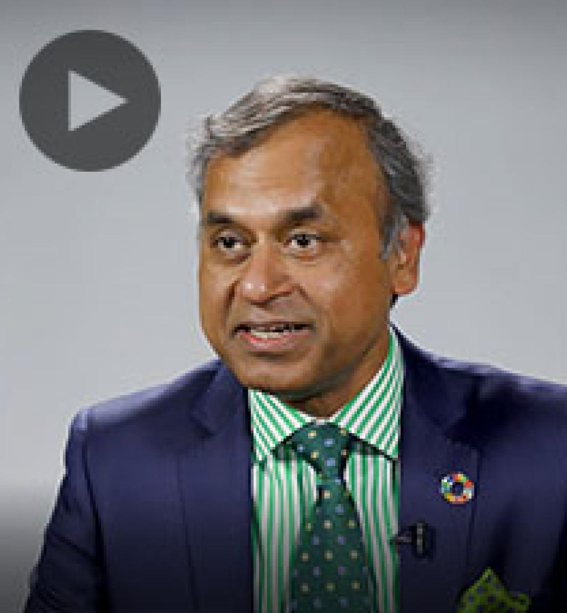 Screenshot from video message shows Resident Coordinator, Siddharth Chatterjee