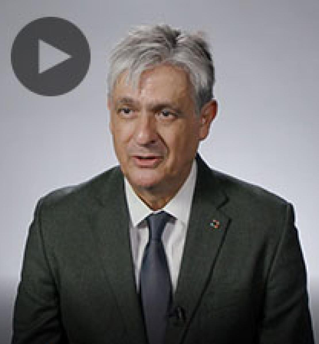 Screenshot from video message shows Resident Coordinator, Antonio Molpeceres