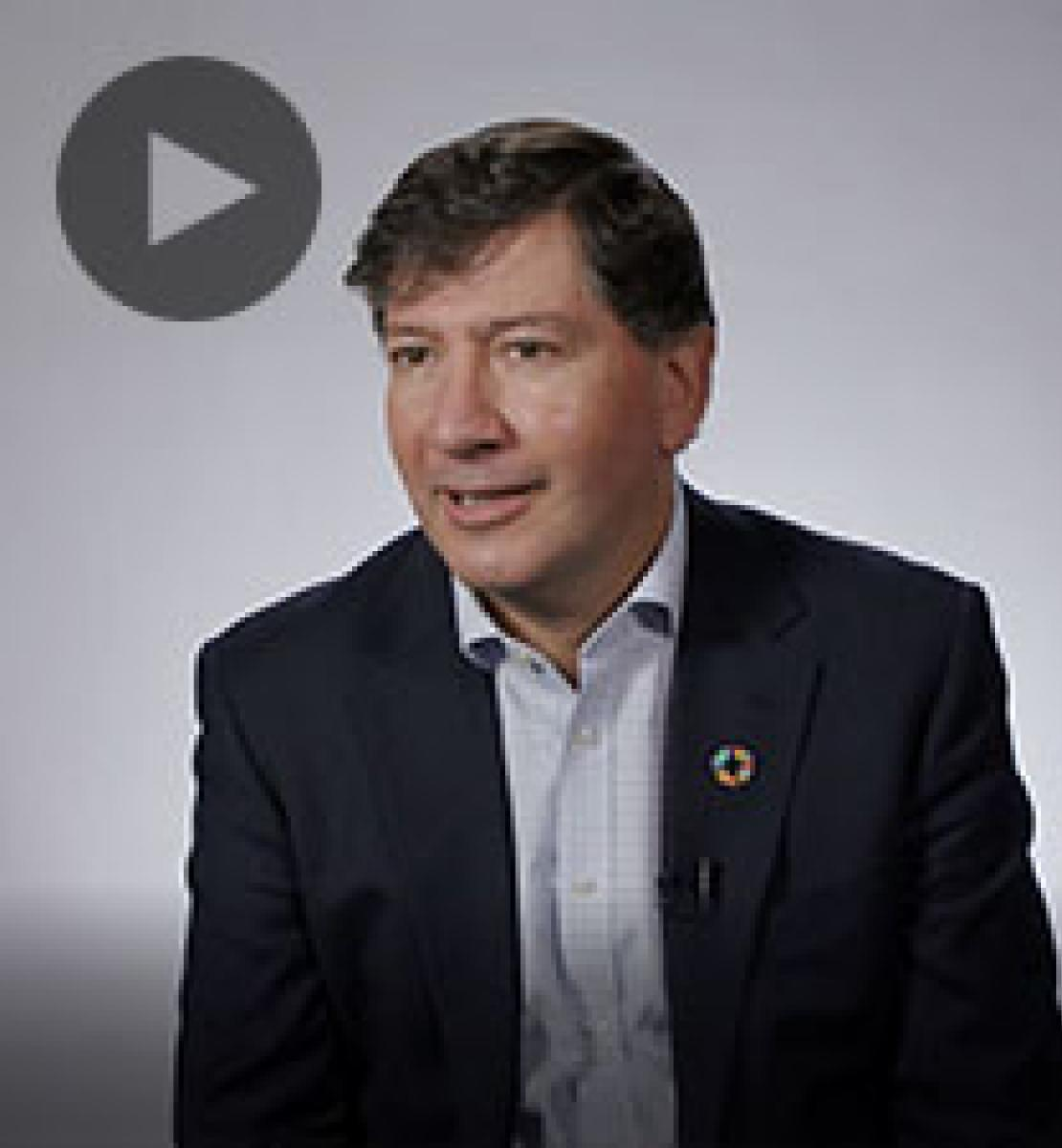 Screenshot from video message shows Resident Coordinator, Igor Garafulic