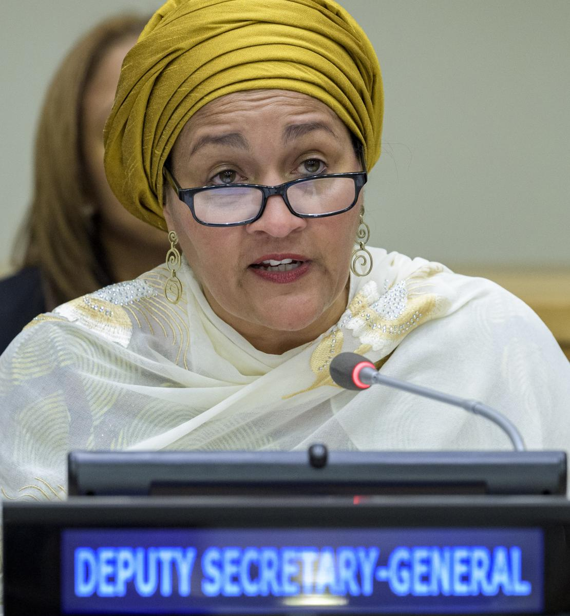 Deputy Secretary-General Amina J. Mohammed delivers remarks.