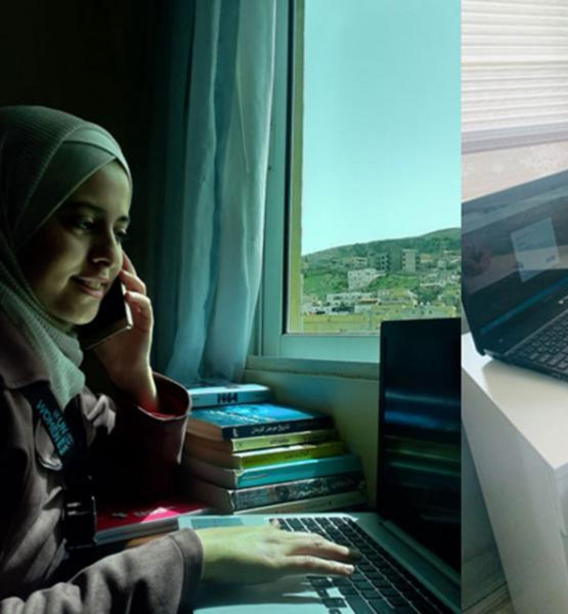 UN Women field assistants conduct daily support calls and disseminate messages through the Whatsapp groups.
