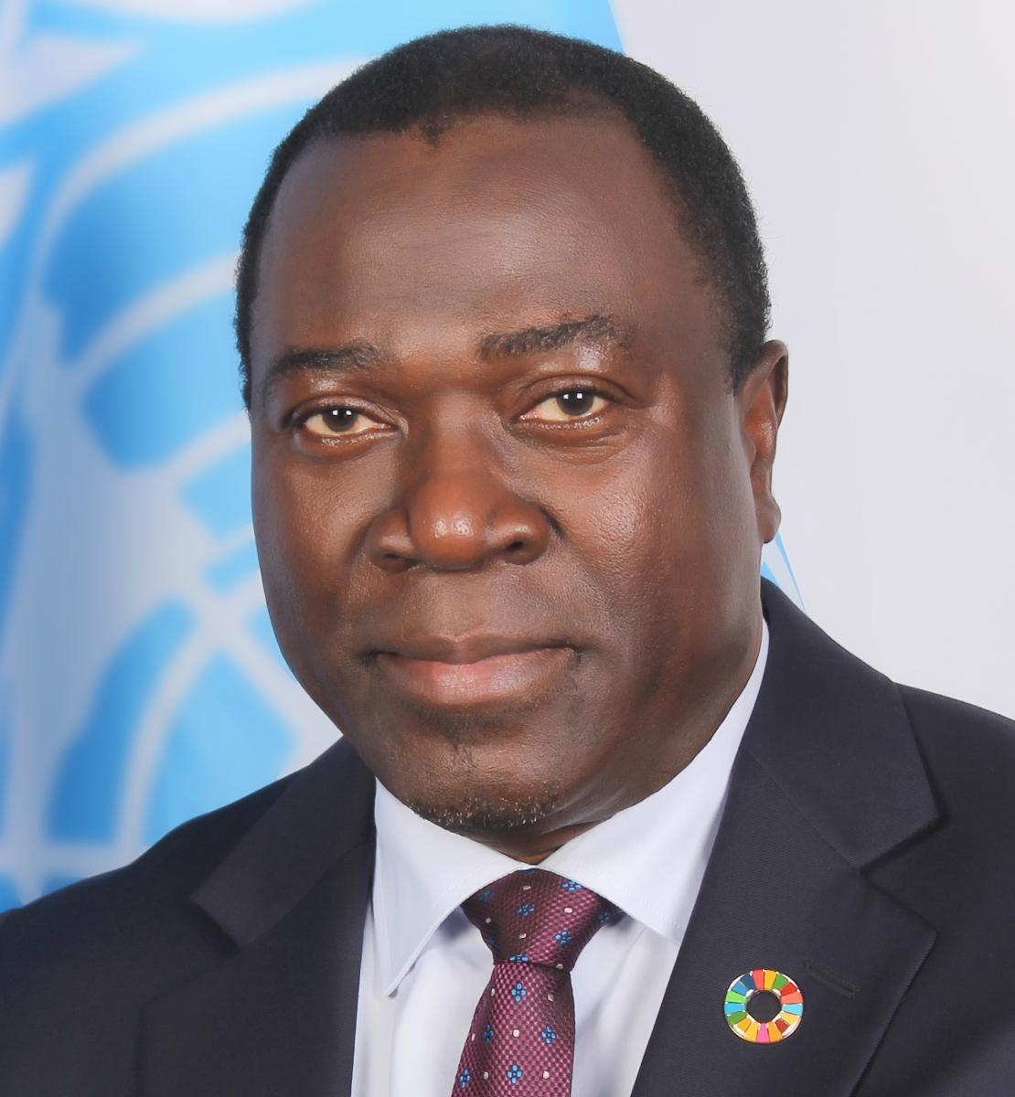 Official photo of the new appointed Resident Coordinator for Sierra Leone, Babatunde Ahonsi.