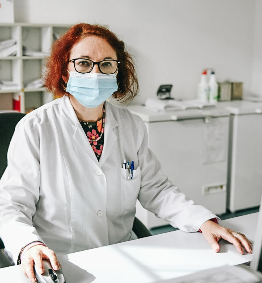 Snežana Bursać Aranđelović at her office, the Canton Sarajevo Public Heath Institute.
