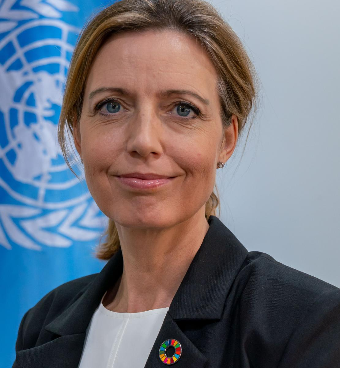 Official photo of the new appointed Resident Coordinator for Kazakhstan,Michaela Friberg.