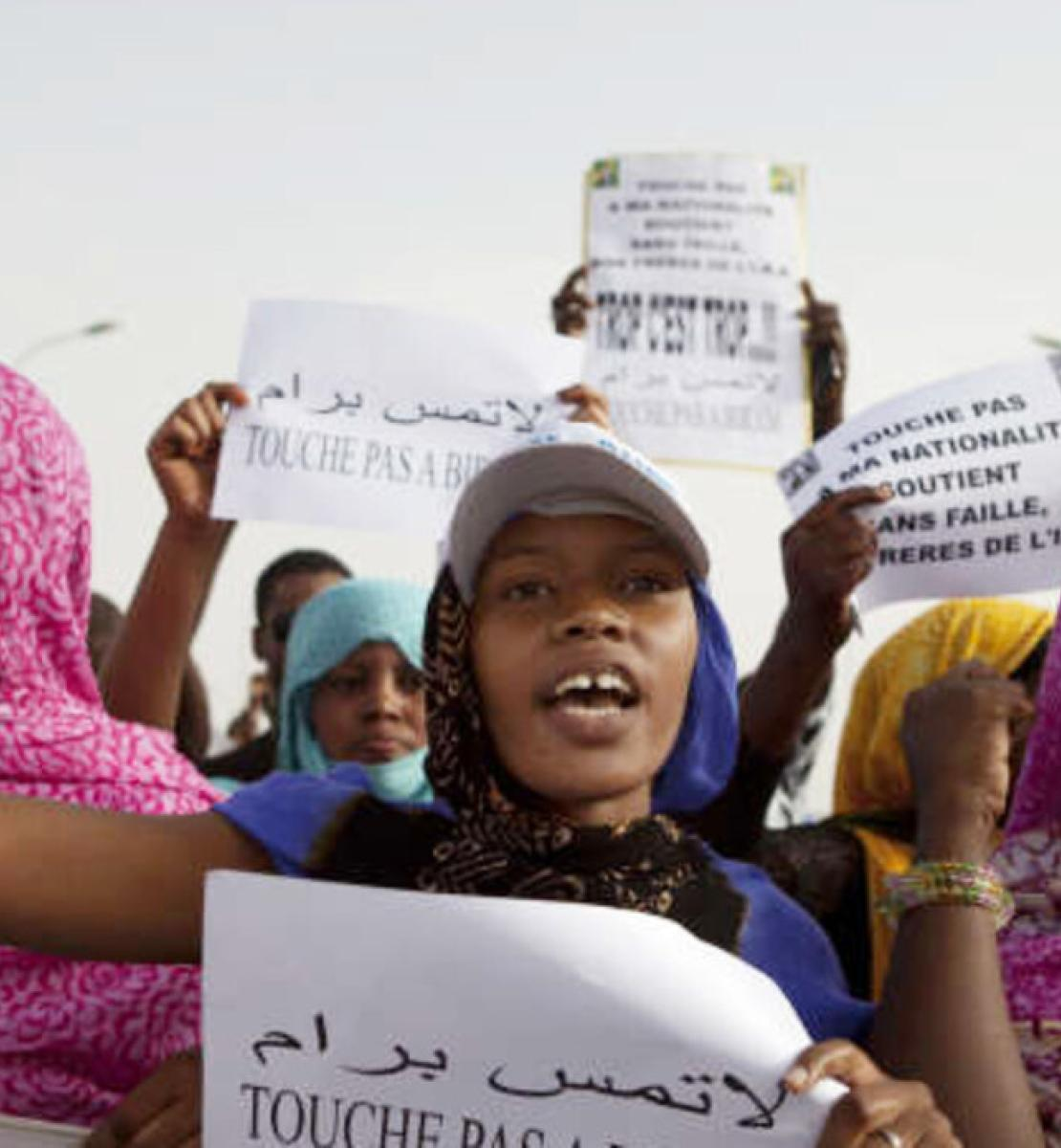 Demonstrations by anti-slavery activists in Nouakchott, Mauritania.
