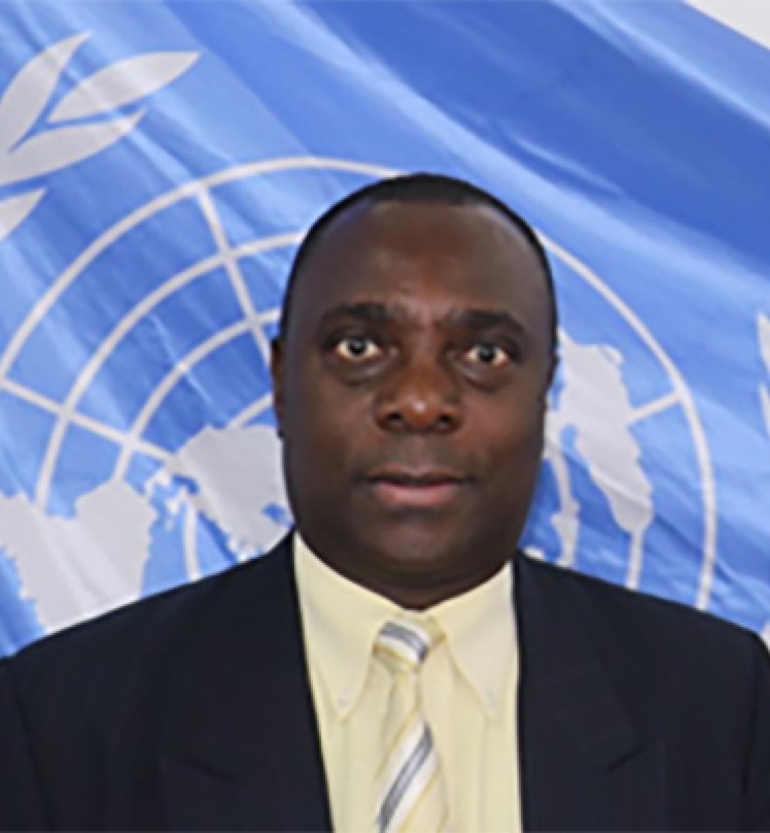 Official photo of the new appointed Resident Coordinator for Comoros, Francois Batalingaya.