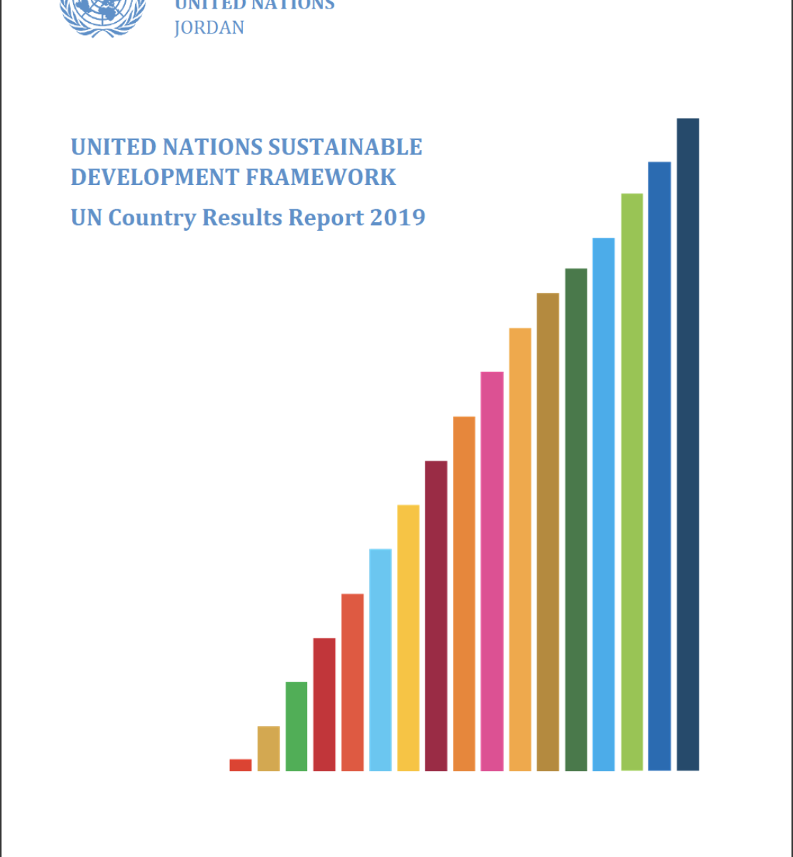 The cover shows the title on the left of a colourful bar chart that shows growth.