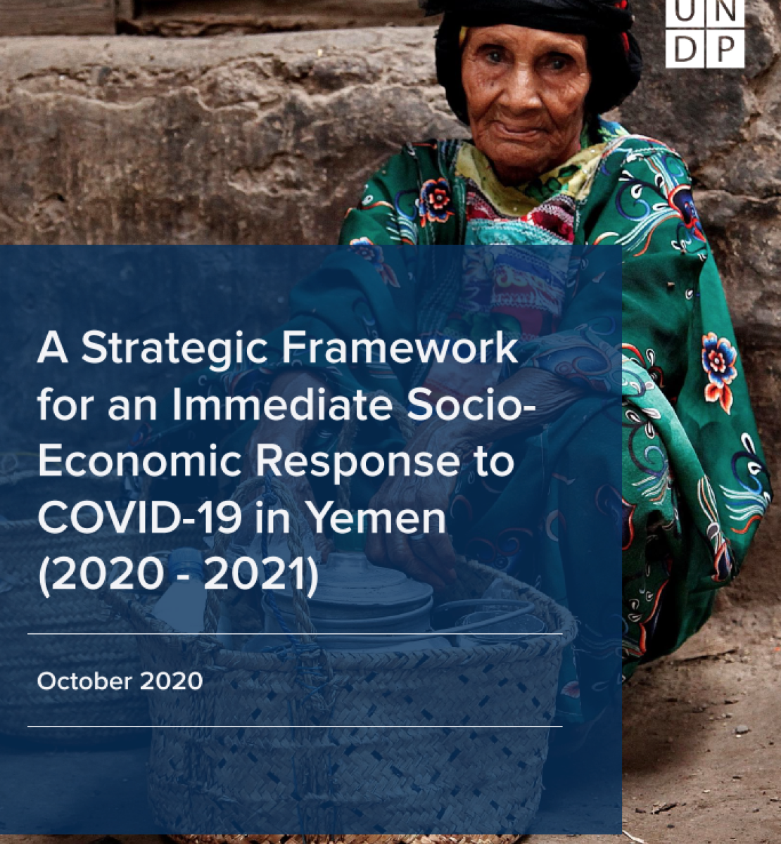 The cover shows an image of an elderly woman crouched on the ground hand-washing dishes, with the title of the report within a dark square overlay in front of the image.