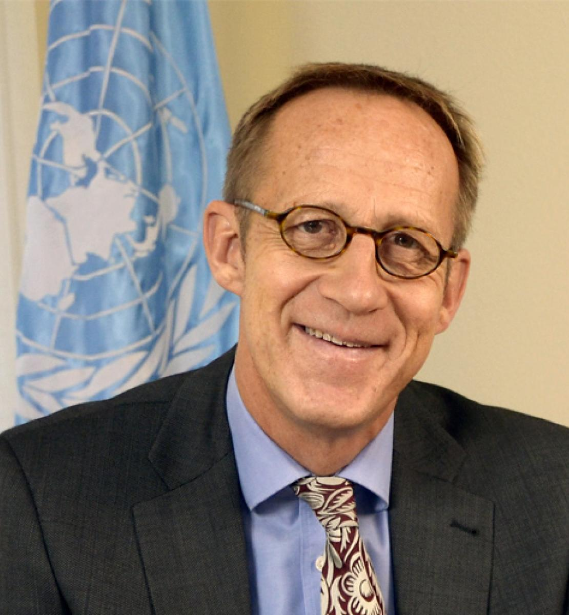 A portrait of Niels Scott, newly appointed UN Resident Coordinator in Liberia