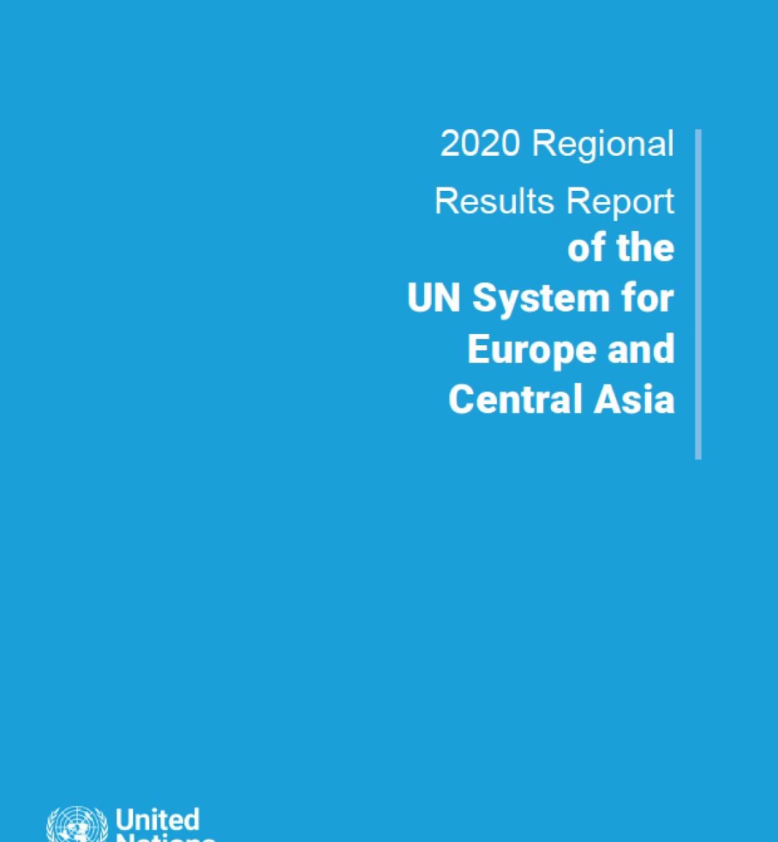 La cubierta azul muestra el título del informe en blanco con el emblema de la ONU en la parte inferior izquierda.