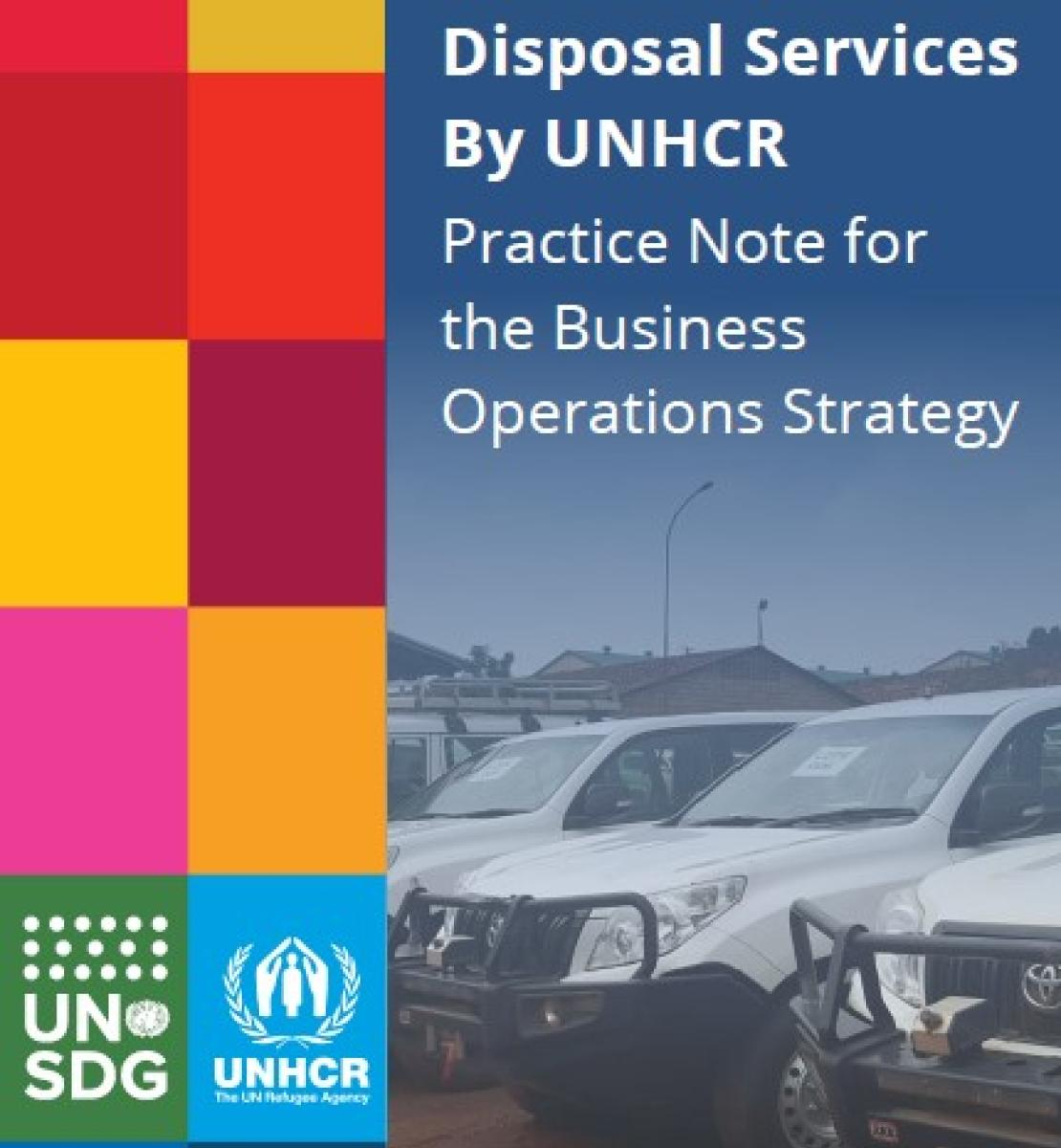 UN cars parked outdoors. Title of the Practice Note UN Common Disposable Services