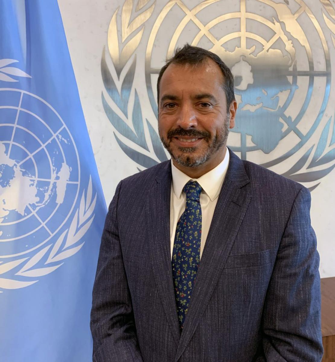 Foto oficial del nuevo Coordinador Residente designado para Argelia, Alejandro Álvarez.