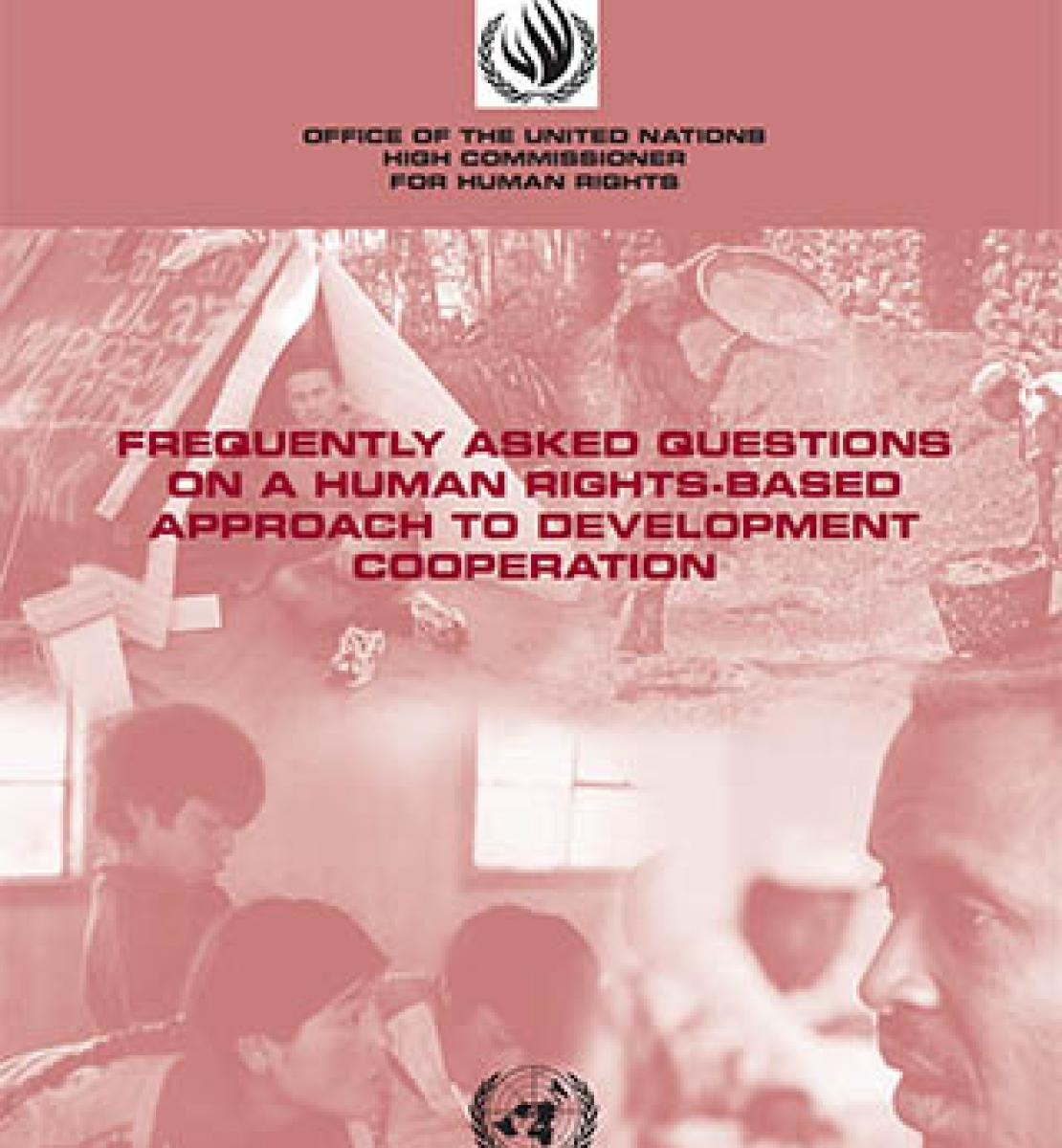 Frequently asked questions on a human rights-based approach to development cooperation