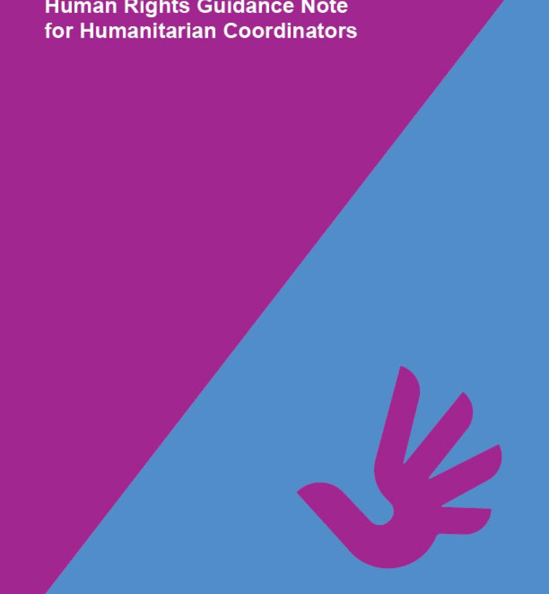 Human Rights Guidance Note for Humanitarian Coordinators