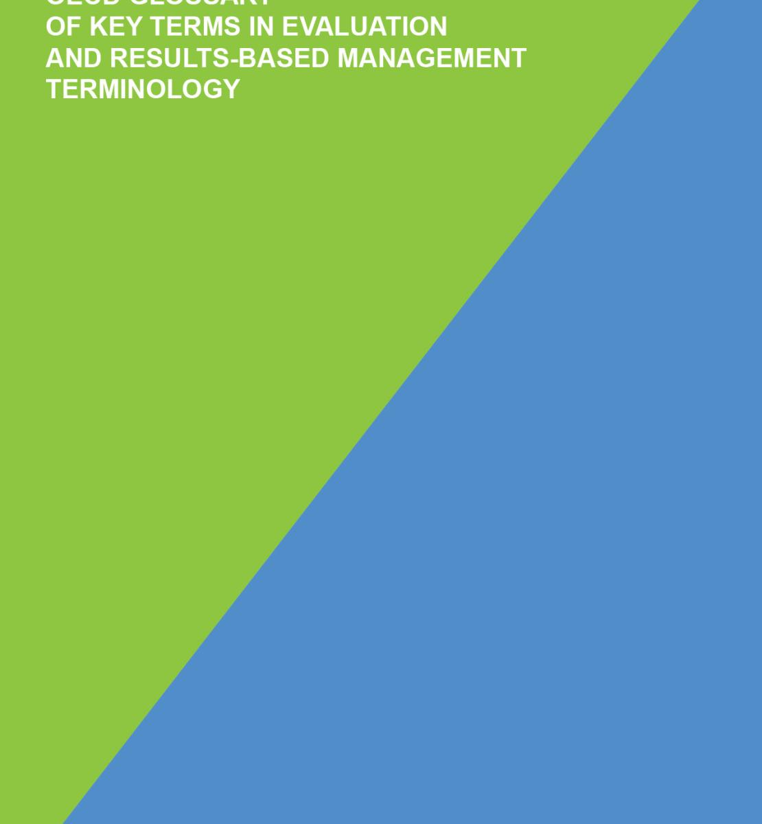 OECD Glossary of Key Terms in Evaluation and Results-based Management Terminology