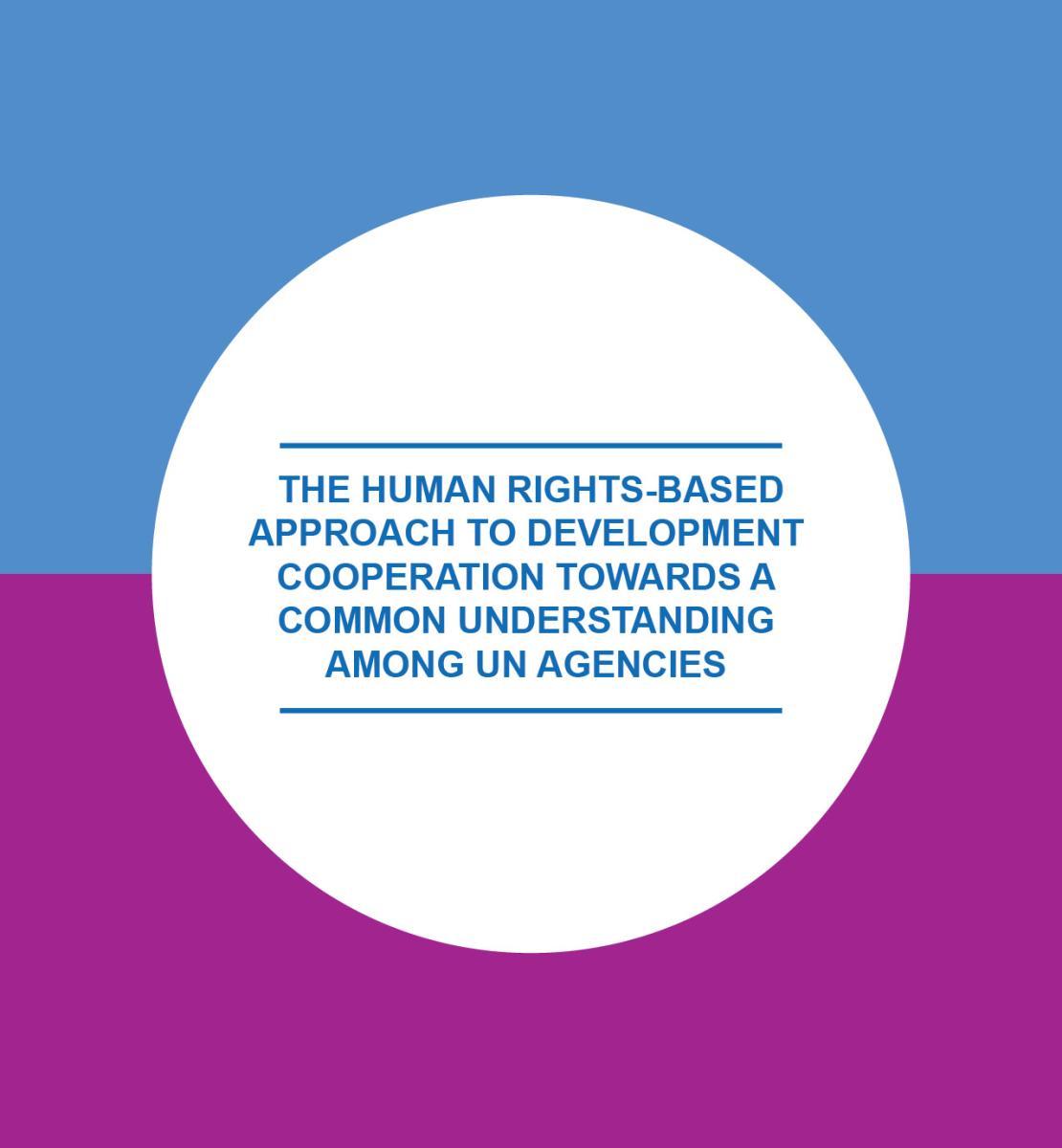 Enfoque de la programación para el desarrollo basado en los Derechos Humanos
