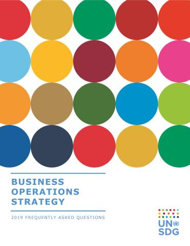 Cover image of the publication titled Business Operations Strategy (BOS) 2.0 – Frequently Asked Questions (FAQ)