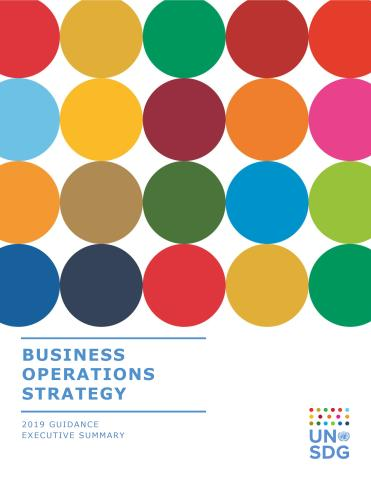 Cover image of the publication titled Business Operations Strategy (BOS) 2.0 Guidance – Executive Summary