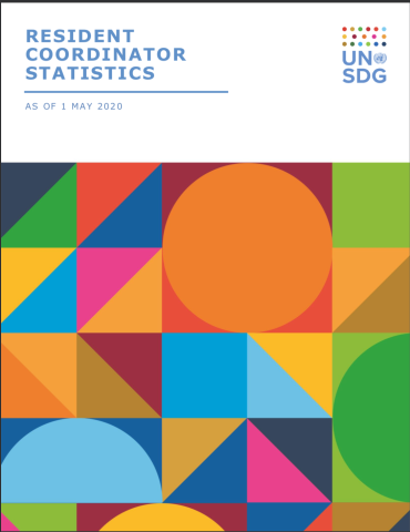 "Resident Coordinator Statistics cover shows the document title, ""Resident Coordinator Statistics,"" against white with colourful shapes beneath it."