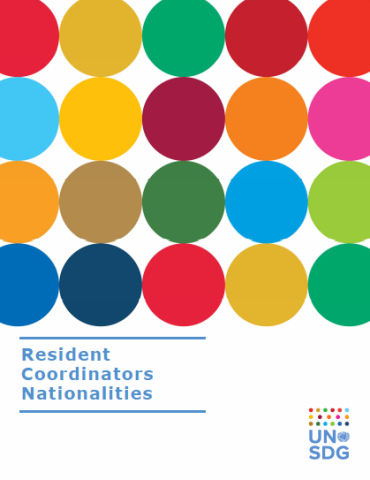The cover shows colorful SDG circles with the title in blue at the bottom left corner