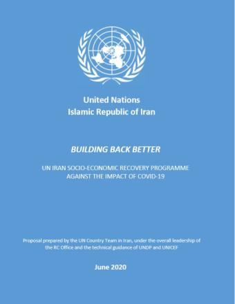 This is the cover of the report with the UN logo on top, the title of the report in the middle with a blue background
