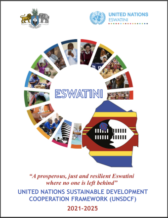 The cover shows an SDG wheel with photos in the center of the page, with the title underneath and the country and UN emblem above.