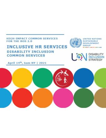 Cover image of the presentation slides with UNDIS and UNSDG logo.